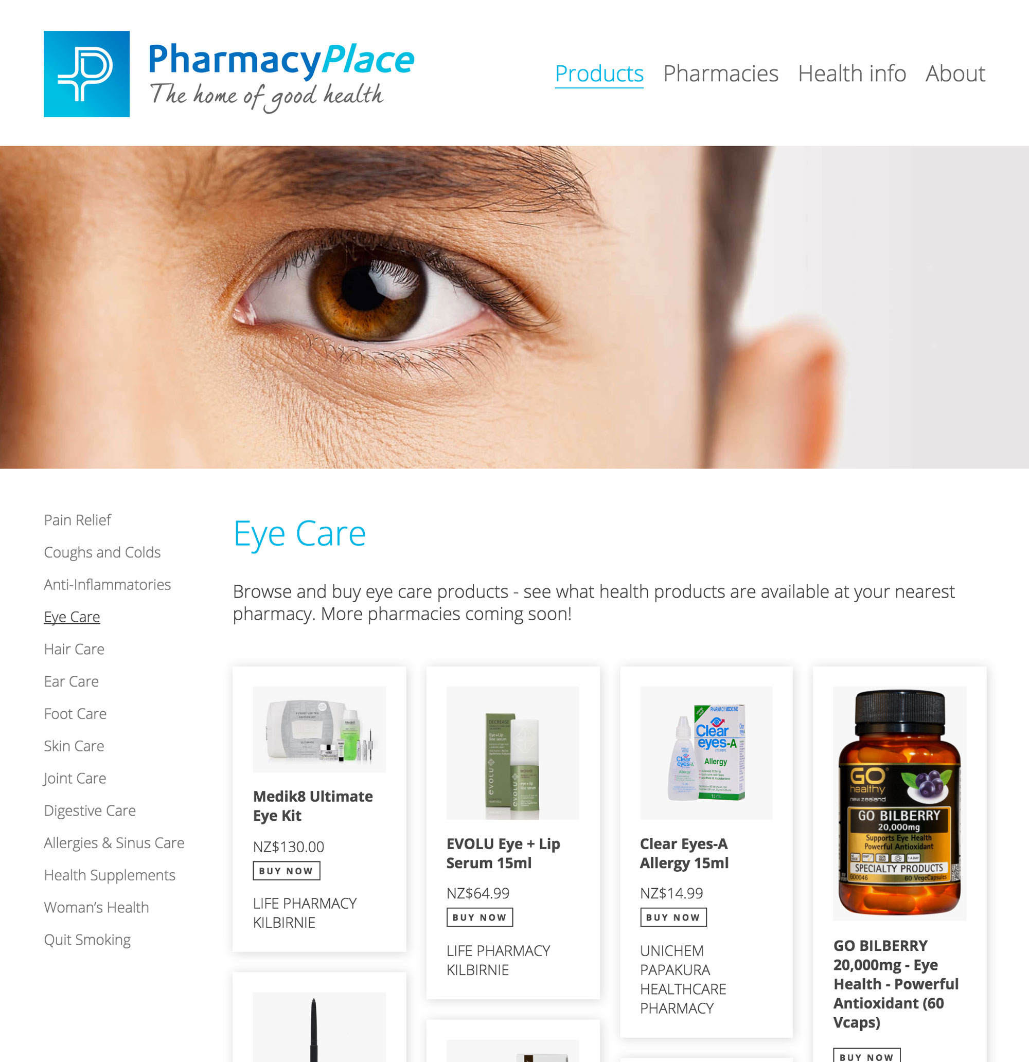 Pharmacy Place online directory and shopping website