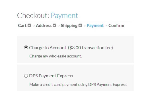 Different payment options